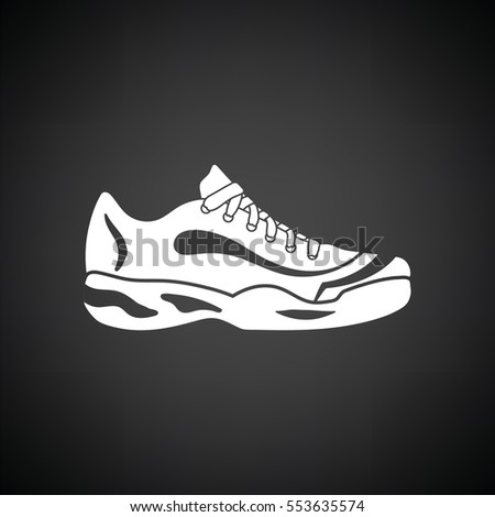 tennis sneaker icon black