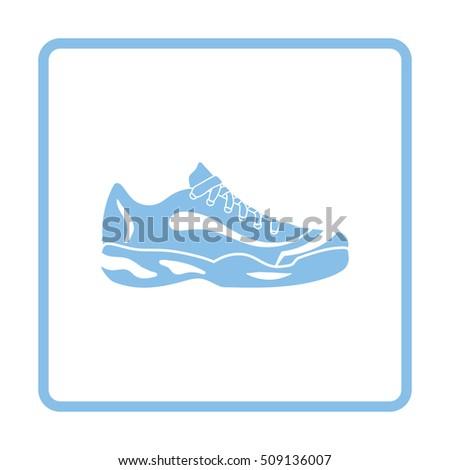 tennis sneaker icon blue frame