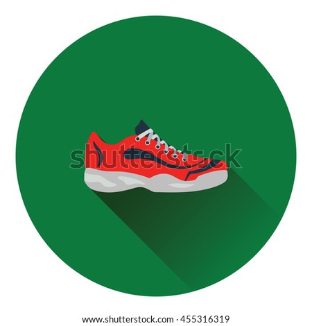tennis sneaker icon flat color