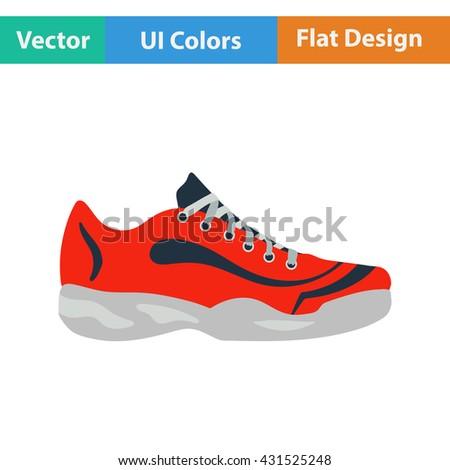 tennis sneaker icon flat