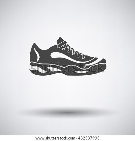 tennis sneaker icon on gray