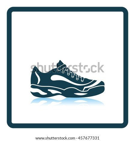 tennis sneaker icon shadow