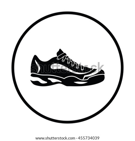 tennis sneaker icon thin
