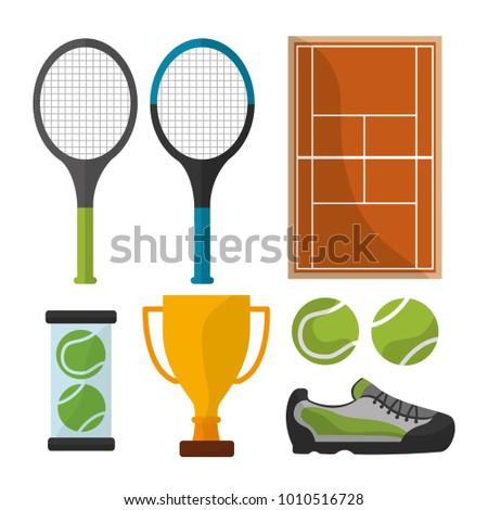 tennis sport equipment trophy