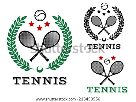tennis sporting emblems and