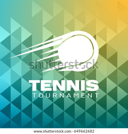 tennis tournament logo vector