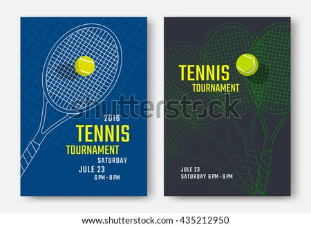 tennis flyer template free