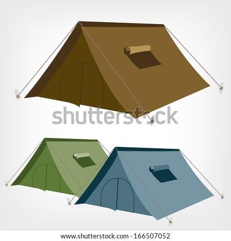 Tent. Camping tent vector.