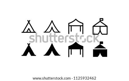 Tent Icon Design Vector Symbol Camp Travel Event