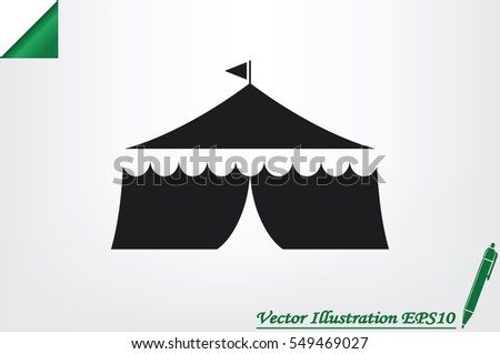 Tent icon vector illustration. & Circus Icons - Download Free Vector Art Stock Graphics u0026 Images