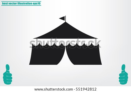 tent icon vector illustration.