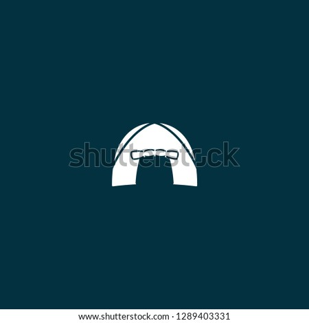 tent illustration vector . tent illustration on blue background