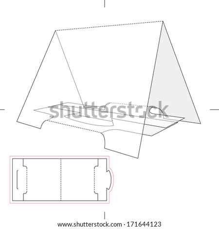 Tent Product Display with Blueprint Layout