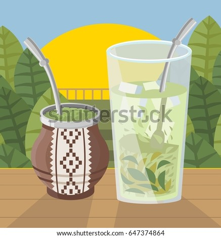 terere yerba mate ice beverage