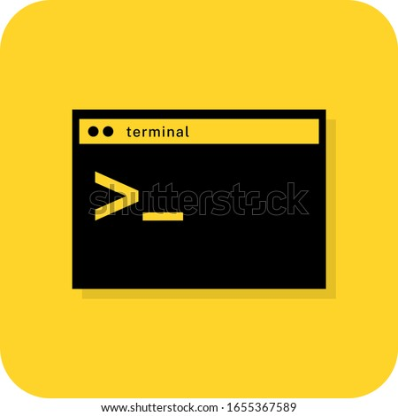 terminal sign command panel