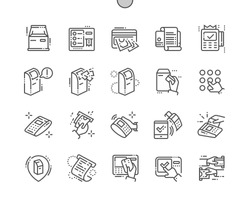 Terminal Well-crafted Pixel Perfect Vector Thin Line Icons 30 2x Grid for Web Graphics and Apps. Simple Minimal Pictogram
