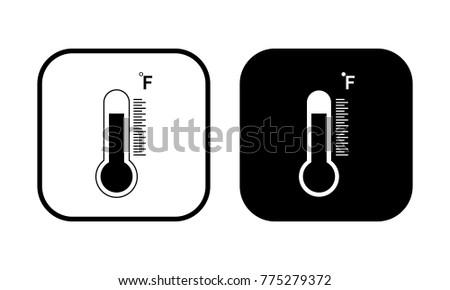 Termometer fahrenheit icon