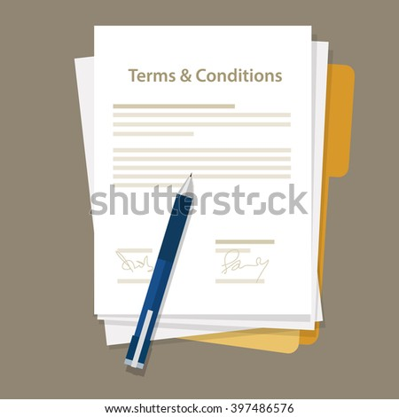 terms and condition of contract document signed
