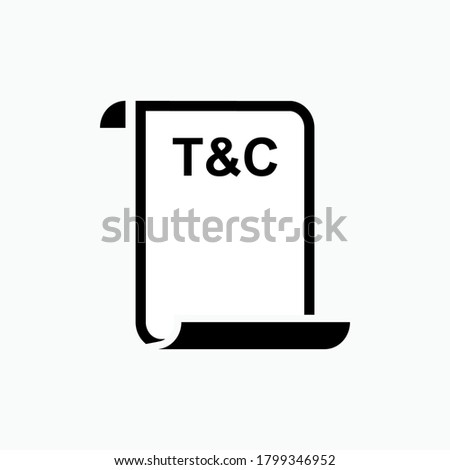 Terms & Conditions Icon. Agreement Document Symbol - Vector. Stockfoto ©
