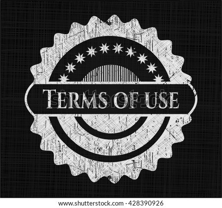 Terms of use chalk emblem