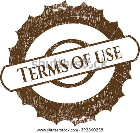 Terms of use grunge stamp