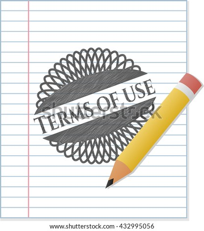 Terms of use penciled