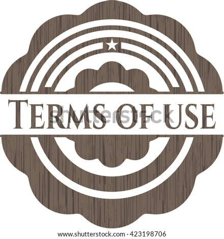 Terms of use retro wood emblem