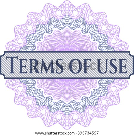 Terms of use rosette