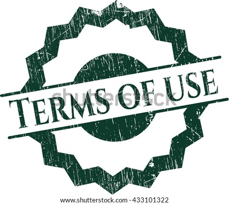 Terms of use rubber grunge seal