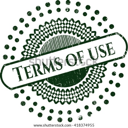 Terms of use rubber grunge texture stamp