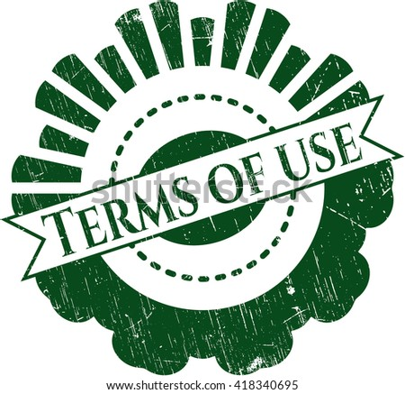 Terms of use rubber stamp with grunge texture