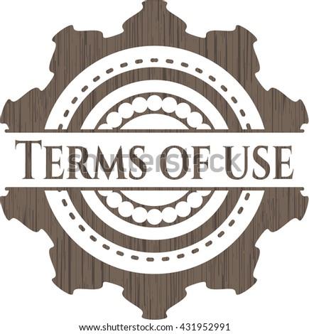 Terms of use vintage wood emblem