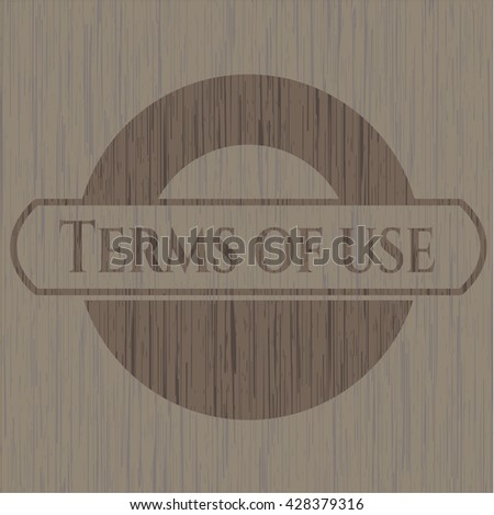 Terms of use wood signboards