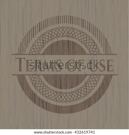Terms of use wooden emblem