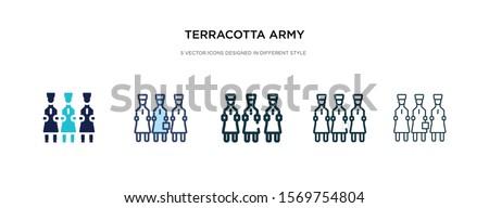 terra cotta army icon in