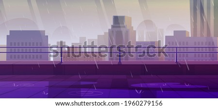 terrace on rooftop at rainy