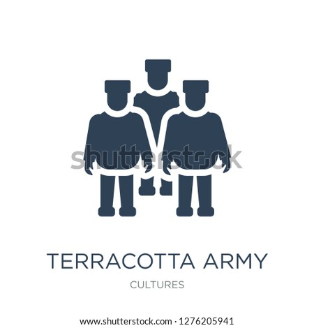terracotta army icon vector on
