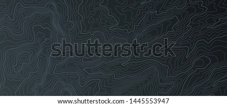 Terrain map. Contours trails, image grid geographic relief topographic contour line maps cartography texture, vector geo charts mapping mountain topo sea navigation illustration