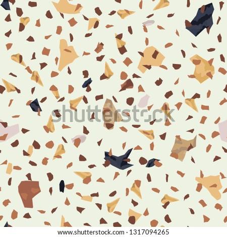 Terrazzo seamless pattern. Broken stone mosaic. #1317094265