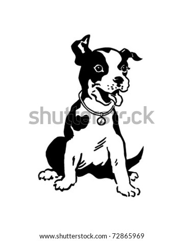 Terrier Dog - Retro Clipart Illustration