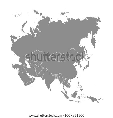 Territory of Asia on a white background. Vector illustration