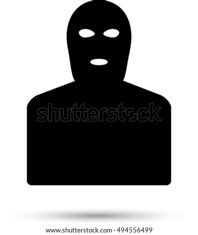 terrorist  mafia icon vector