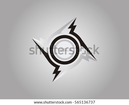 tesla logo template