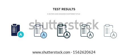 test results icon in different style vector illustration. two colored and black test results vector icons designed in filled, outline, line and stroke style can be used for web, mobile, ui