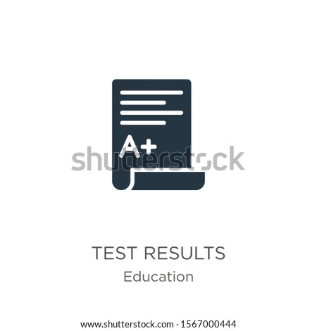 Test results icon vector. Trendy flat test results icon from education collection isolated on white background. Vector illustration can be used for web and mobile graphic design, logo, eps10