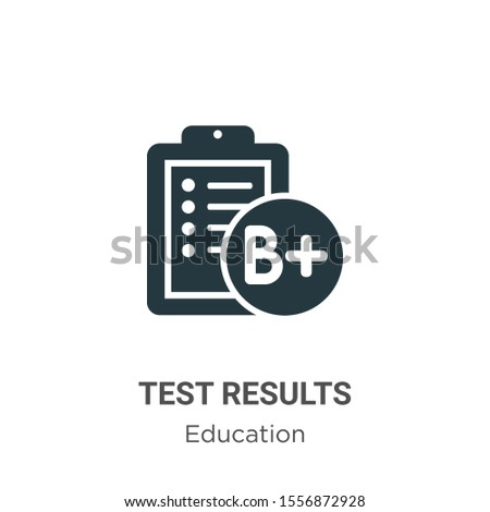 Test results vector icon on white background. Flat vector test results icon symbol sign from modern education collection for mobile concept and web apps design.