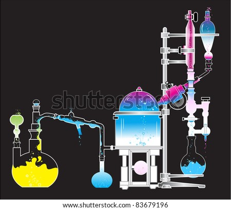 Test tube chemistry the science lab beakers scientist stock vector