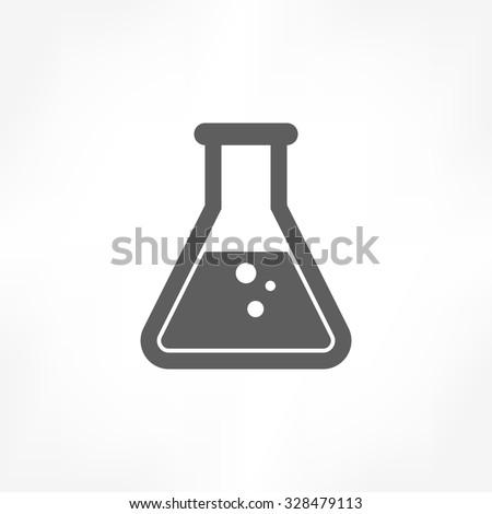 test tube icon Foto stock ©