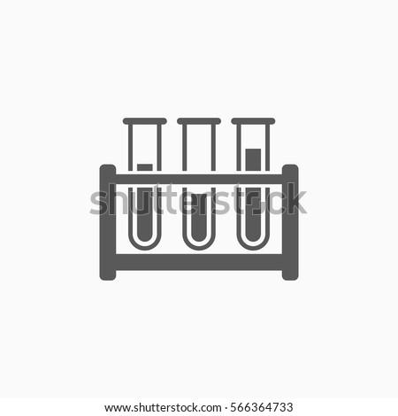 test tube icon, laboratory vector, test tube rack Stock photo ©