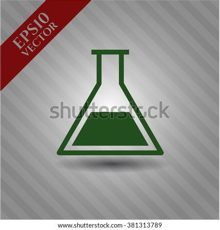 Test tube icon or symbol